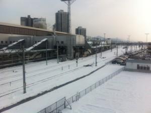 雪の盛岡駅