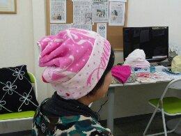 タオル帽子サロン140208